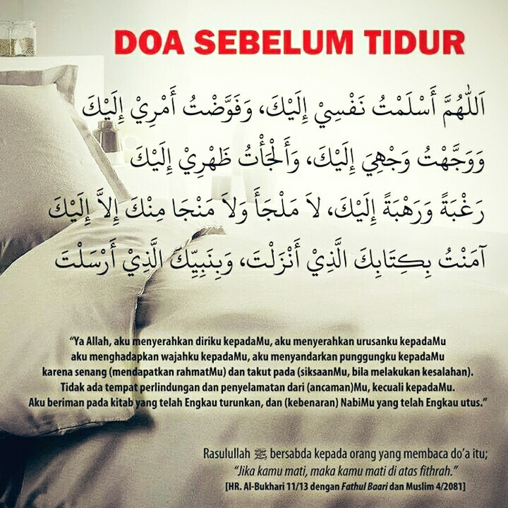 Doa Sebelum Tidur Dunia Denia Dalam Indahnya Islam